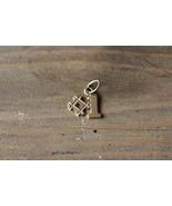 Gold Plated #1 Charm - $9.90