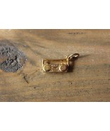 Gold Plated Boom Box Stereo Charm - $9.90