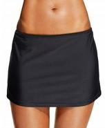 Island Escape Swim Skirt Sz 6 Solid Black Skirtini Swimwear Style P760041 - $16.44