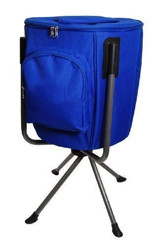 Blue 9 Gal Folding Portable Camping Concert Drink Cooler Holds 60 Beer Soda Cans