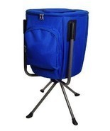 Blue 9 Gal Folding Portable Camping Concert Drink Cooler Holds 60 Beer S... - £79.84 GBP