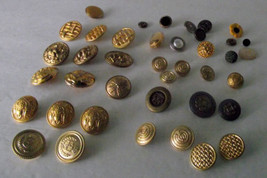 Gold Metal Buttons Tone Assorted Size Design Ea... - $13.85