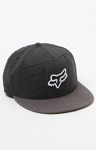 MENS GUYS MEN'S GUYS FOX STOCKYARD 210 HEATHER BLACK HAT LOGO HAT S/M NEW $39