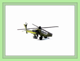 Apache Ah 64A Military,Motormax 1/300 Diecast Helicopter Model,Collector's Item - $25.29