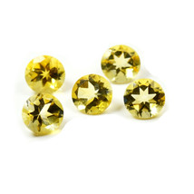 Real Citrine Total 20 Carat Round Shape Loose Stone Lots 5 Pieces Wholes... - $28.10