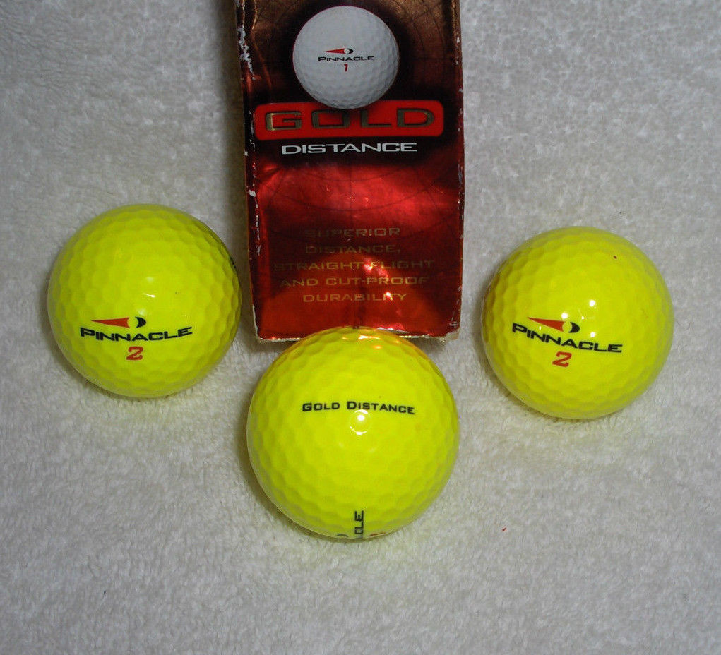 dl pinnacle gold distance yellow golf balls