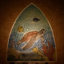 Fused Art Glass Sea Turtle & Fish Nightlight Night Light Handmade Ecuador image 2
