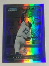 Alex Rodriguez Card /250 2012 Bowman Chrome Refractor #66 rainbow  card - $11.40