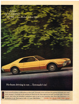 Vintage 1966 Magazine Ad Oldsmobile Toronado Ho-Hum Driving Is Out Toron... - $5.93