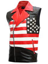 Mens american flag biker leather jacket 2 thumb200