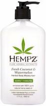 Hempz Herbal Body Moisturizer Fresh Coconut & Watermelon Moisturizing 17 oz - $19.79