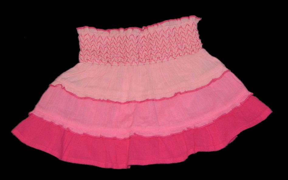 NWT Gymboree Monkey Island Pink Tiered Skirt  Size 18 24 Months