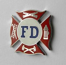 FIRE DEPT DEPARTMENT FIRE FIGHTER FD LAPEL PIN BADGE 3/4 INCH - $4.70