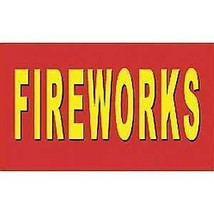 FIREWORKS EVENT JULY 4TH SIGNAGE BANNER POLY 3X5 FLAG - $7.47
