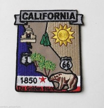 USA STATE OF CALIFORNIA EMBROIDERED MAP PATCH 2 X 3 INCHES - $4.69