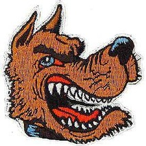 VICIOUS WOLF NOVELTY EMBROIDERED PATCH 3 INCHES - $4.64