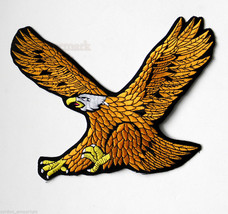 EXTRA LARGE AMERICAN GOLD EAGLE QUALITY EMBROIDERED JACKET PATCH 9 INCHES - $14.06