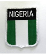 EMBROIDERED NIGERIA WORLD COUNTRY FLAG SHIELD P... - $4.69
