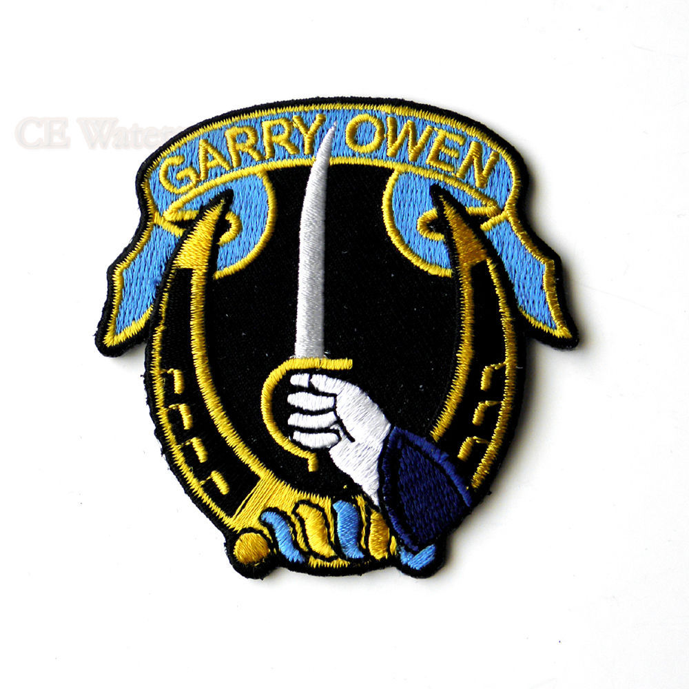 Quality embroidered garry owen th cavalry us army