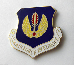 USAF US AIR FORCE IN EUROPE SHIELD LAPEL PIN BADGE 1.5 INCHES - $5.41