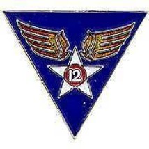 UNITED STATES 12TH USAF TWELFTH AIR FORCE LAPEL PIN - $4.46
