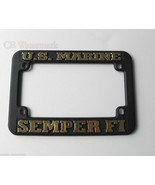 USMC US MARINES MARINE CORPS SEMPER FI USA MOTORCYCLE LICENSE PLATE FRAME - $5.12