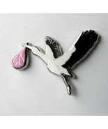 PINK STORK CARRYING BABY GIRL ITS A GIRL DELIVE... - $4.70