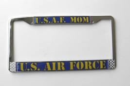 US AIR FORCE USAF MOM CHROME PLATED LICENSE PLATE FRAME 6 X 12 INCHES CA... - $12.18