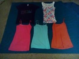 Wholesale Lot of 5 Girls Summer Shirts Tank Tops Arizona Medium - $0.99