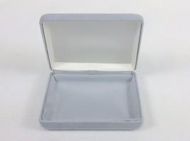 Jewelry Display/Gift Box, Grey Velvet ~ Holds Bracelet, Necklace, Belt B... - $7.79