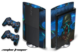 Skin Decal Wrap 4 PS3 Playstation Gaming Console Super Slim Cod Zombie Trooper - $9.85