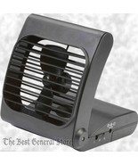 """Small 7"""" Battery Powered Portable Personal Folding Ultra Quite Fan 2 Speeds - $26.65"""