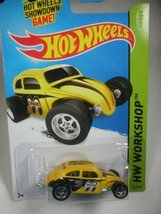 Hot Wheels HW Workshop Custom Volkswagen Beetle Yellow #247/250 - $3.00