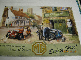 MG Motorcars Metal Enamel Wall Clock - £31.96 GBP