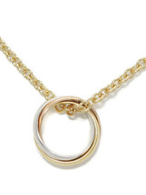 Cartier K18YGK18PGK18WG Trinity necklace 18 three-color gold about 42cm - $1,331.72