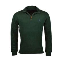 Polo Ralph Lauren Men's Half Zip French Rib Cotton Sweater Green Pine M XXL - $74.95