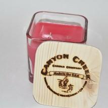 NEW Canyon Creek Candle Company 14oz Cube jar FRESH WATERMELON scented Handmade! - $44.94