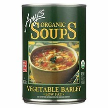 AmyS Kitchen Vegetable Barley Soup Low Fat 14.1 Oz -Pack of 12 - $55.04