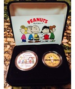 PEANUTS SNOOPY 60 YEARS 24KT GOLD JFK HALF DOLLAR & QUARTER 2 COIN SET W... - $29.99