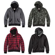 NWT Mossimo Men Sherpa-Lined Hooded Sweatshirt Jacket Green Camo/Red/Bla... - $39.99