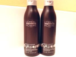 L'Oreal Professionnel Homme Purete Magnesium+Zn Pyrithione Shampoo 8.45 oz. x2** - $26.94