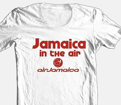 Jamaica Airlines T shirt 100% cotton vintage style graphic printed tee reggae