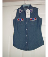 New Direction Size Small Blue Jean Top - $35.00
