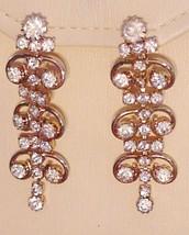RUNWAY SARAH COVENTRY Vintage CLIP-ON Earrings Rhinestone Deco BRILLIANT! - $55.00