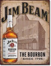 Jim Beam - Still House Metal Tin Sign Wall Art  - $19.79