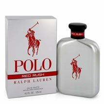 Polo Red Rush by Ralph Lauren Eau De Toilette Spray 4.2 oz for Men - $77.22