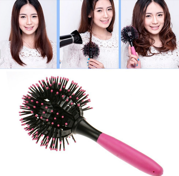 3D Hair Brush Ball Style Blow Drying Heat Resistant Comb