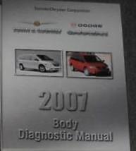 2007 Dodge CARAVAN Chrysler Town Country Body Diagnostic Procedures Shop Manual - $38.07