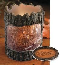 Whitetail Deer Tree Bark Votive Holder - $29.95