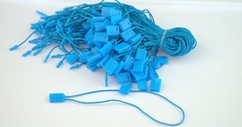 "7"" 200 Pcs BLUE Hang Tag Nylon String FLAT Lock... - $10.00"